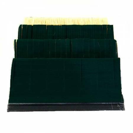 Sanding strip with rigid plastic guide